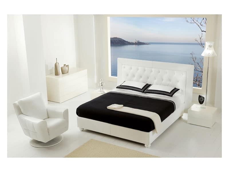 Letto con testiera imbottita per camera da letto classica - Testiera letto moderna ...