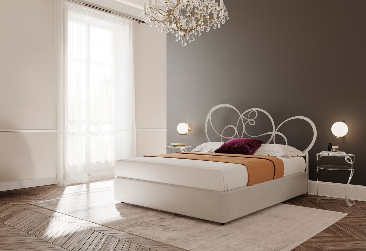 Gerico letto in metallo per camere da letto in stile classico idfdesign - Camere da letto stile antico ...