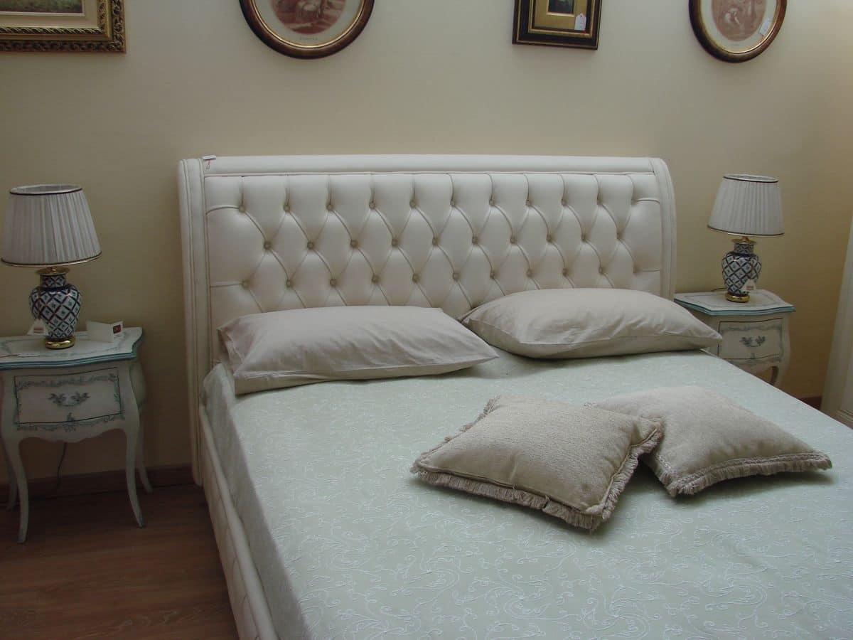 Letto classico per camere da letto con box contenitore idfdesign - Camere da letto in pelle ...