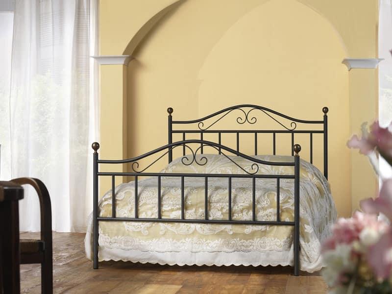 Letto classico in ferro, per Camera da letto tradizionale | IDFdesign