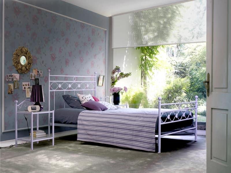 Letto singolo in metallo per camera da letto classica for Camera letto ferro battuto