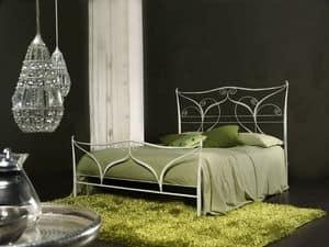 Klimt, Letto matrimoniale classico in metallo, taglio laser