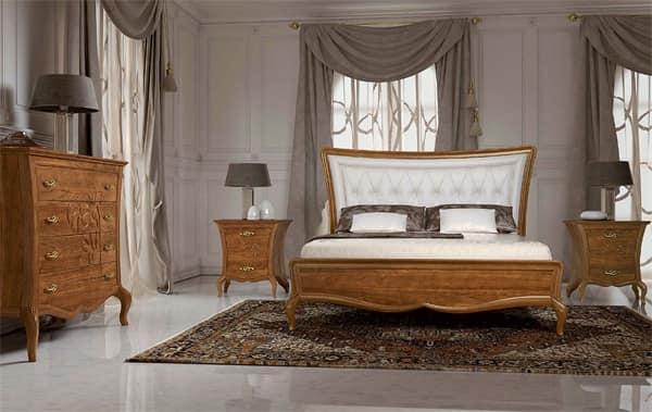 Letti con testiera in pelle letto in legno massello for Designer di mobili francesi art deco