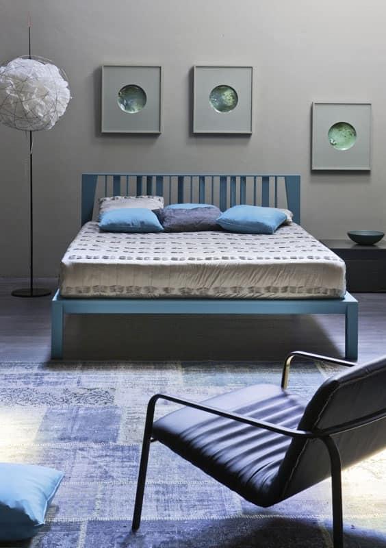 Letto vinci letto color legno naturale albergo idfdesign - Letto legno naturale ...