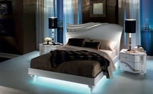 Mir� letto, Letto con forme fluide, con retro-illuminazione LED
