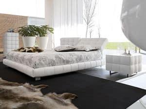 MONTREAL, Letto ricoperto in cuoio Camera da letto classica