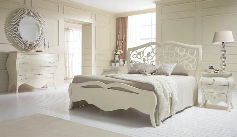 Letto in stile liberty letto interamente in legno letto for Arredamento stile liberty