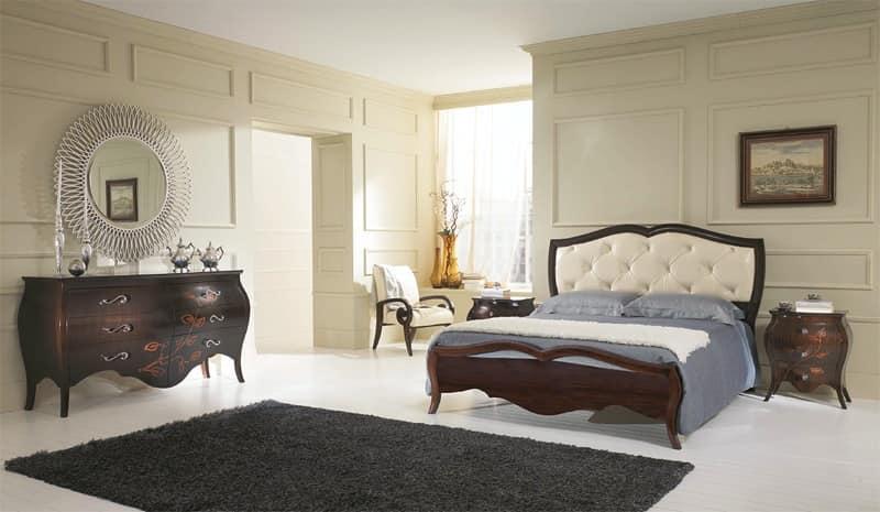 Letto di lusso letto con testiera in pelle di coccodrillo letto con testiera capitonn suite d - Camere da letto in pelle ...