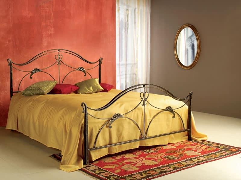 Letto singolo in stile liberty per uso residenziale - Camere da letto in ferro battuto ...