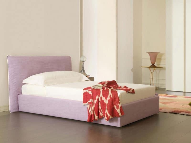 Letto con morbida testiera singolo o matrimoniale idfdesign - Testiera letto design ...
