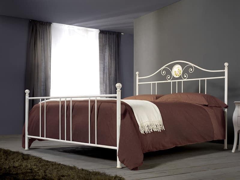 Letto in ferro lavorato a mano per camere classiche - Camere da letto in ferro battuto ...