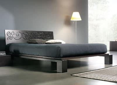 sal letto legno letto in legno per camere da letto letto con testiera ...