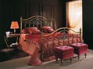 SOFIA 1289 BRO/PE, Letto matrimoniale, in ottone per Camera d'albergo