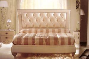 Turandot, Letto matrimoniale per camere da letto, classico, capitonné