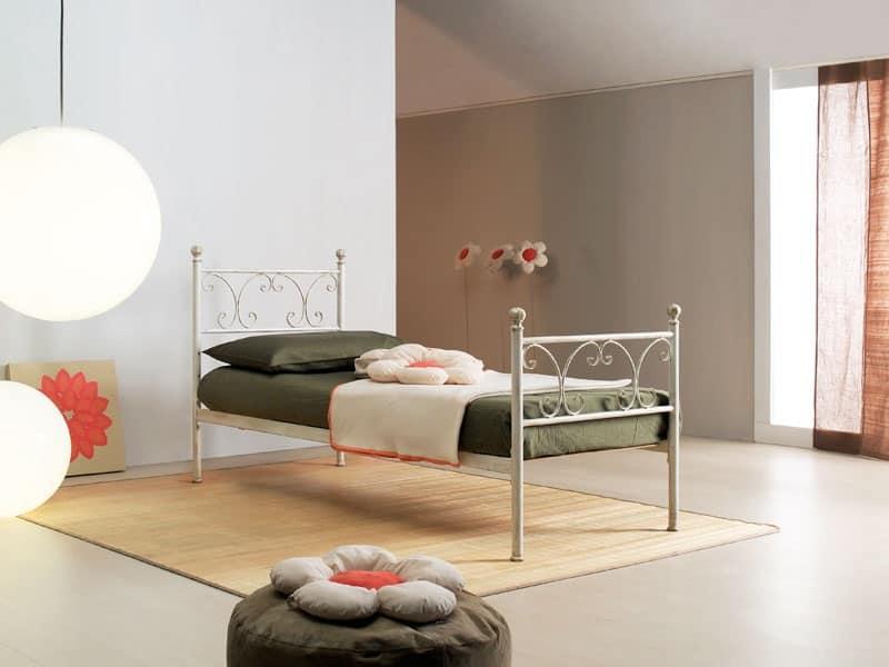 Vienna singolo, Letto singolo in stile liberty, per eleganti alberghi