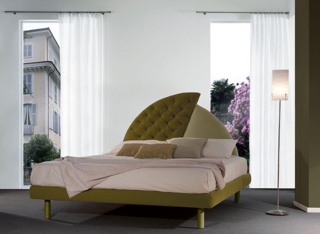 Letto imbottito, testata originale, per hotel classici | IDFdesign