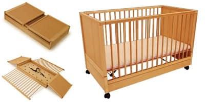 Lettino per bambini richiudibile per camerette idfdesign for Lettini per bambini