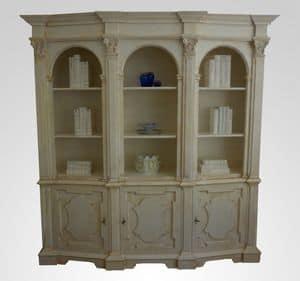 3550 LIBRERIA, Lussuosa libreria in legno, per salotto classico