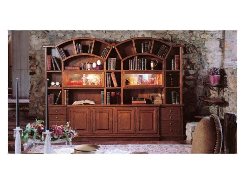 Mobili librerie classiche ed in stile idf for Piani di libreria stile artigiano