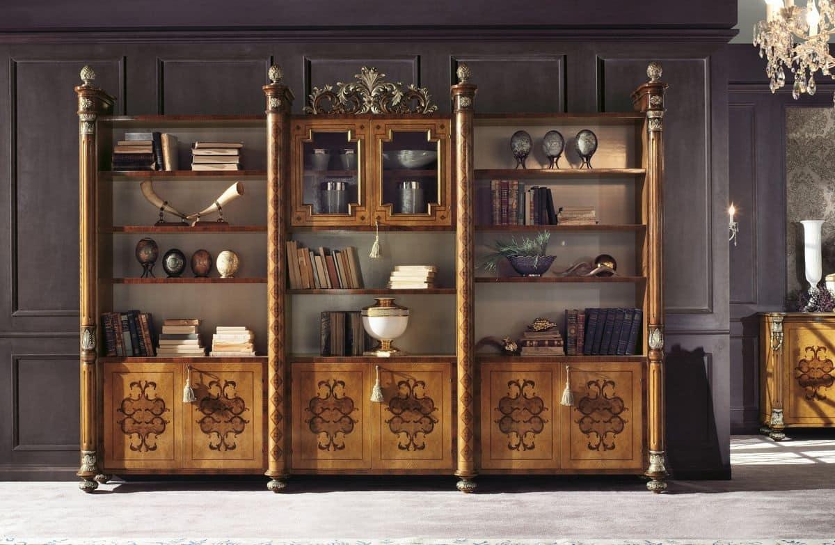 Parete Attrezzata Classica Di Lusso : Libreria modulare classica di ...