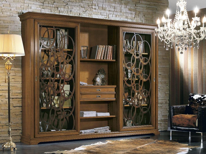 Libreria con ante scorrevoli | IDFdesign