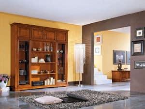 Art.102/L, Credenza in legno in stile classico, per soggiorni e cucine