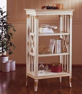 Libreria con dettagli foglia oro in legno intagliato - Librerie da camera ...