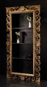 Art. 20668, Libreria in stile classico con cornice intagliata