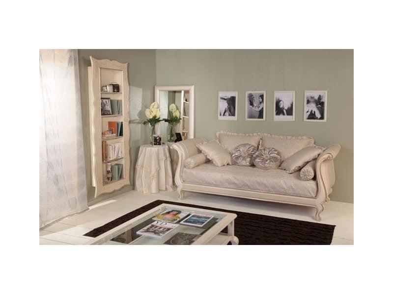 Libreria in faggio decorato per case classiche di lusso for Case classiche di lusso