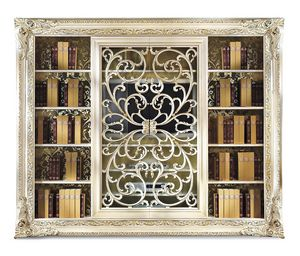 4018AB, Elegante libreria con porta TV