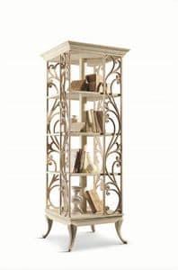 Art. 750, Libreria girevole in legno, per salotti in stile classico