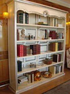 Art. 944, Libreria laccata, finiture argento, per la casa