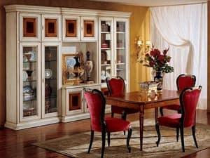 Display libreria 731 A2, Libreria classica di lusso in legno
