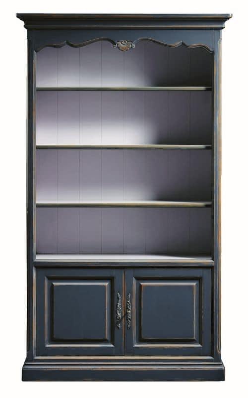 Lorena FA.0100, Libreria con 2 porte e 4 ripiani, in stile classico