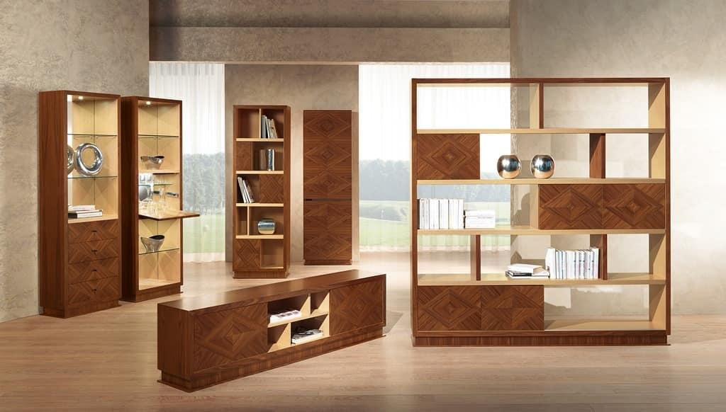 Mobili per soggiorno in stile classico contemporaneo idfdesign - Mobili stile contemporaneo moderno ...