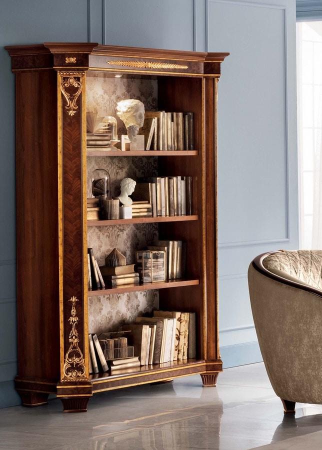 Modigliani libreria a 2 ante, Libreria ispirata allo stile impero