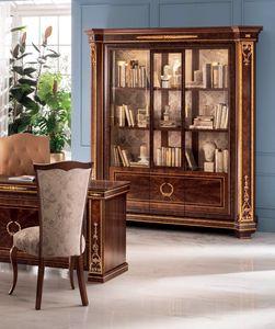 Modigliani libreria a 3 ante, Maestosa libreria dalle armoniose forme