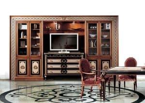 Paradise C/517, Libreria classico di lusso, per ambienti residenziali