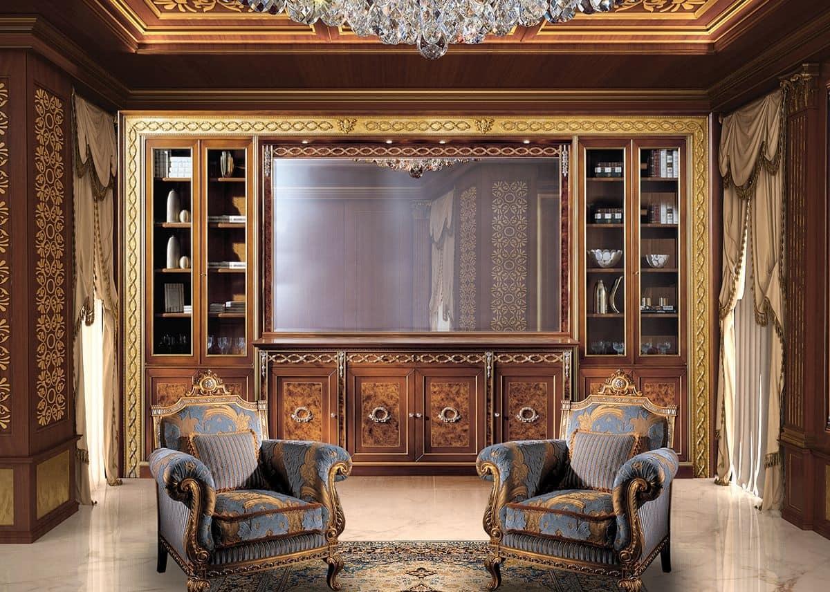 Libreria classica di lusso idfdesign for Mobili di design classico