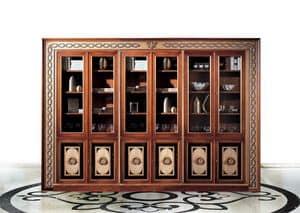 Paradise C/518, Libreria classica di lusso con 6 ante