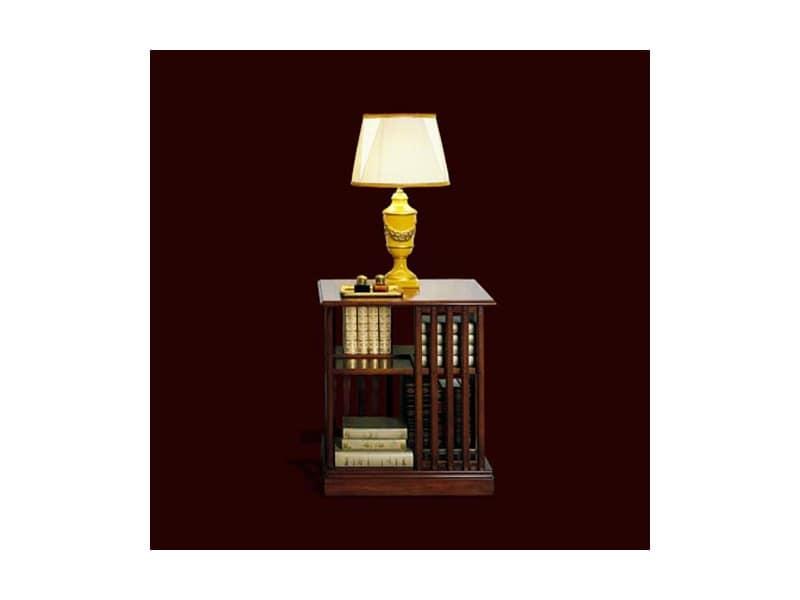 Piccola libreria girevole in ciliegio stile classico for Arredamento classico lusso