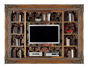 4027B, Libreria ad incasso con porta TV