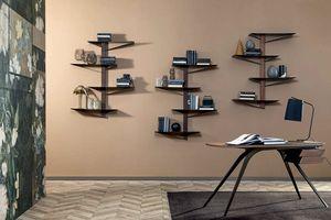 ALBATROS  libreria, Libreria con ripiani iin metallo verniciato e struttura in legno