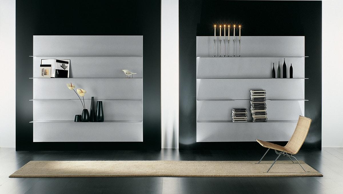 Composizione di mensole per la casa moderna in alluminio for Mensole in alluminio