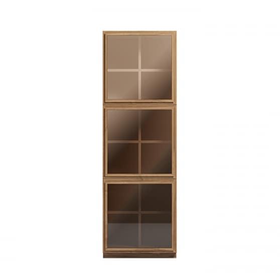 Libreria verticale, con ante in vetro | IDFdesign