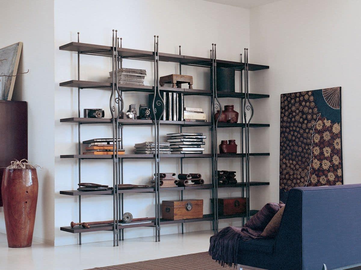 Librerie In Metallo Componibili.Libreria In Legno E Metallo Per Ambienti Residenziali Moderni