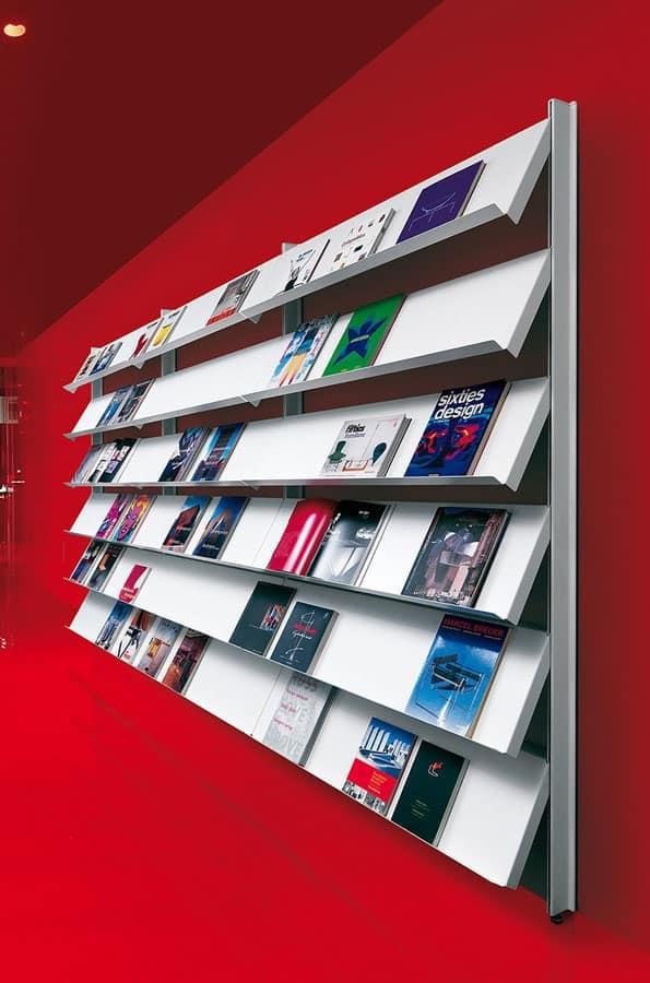 Big parete appoggio terra, Librerie a ripiano per uffici e ambienti contract