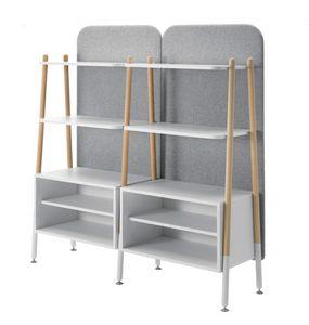 Blog, Libreria modulare, con contenitori e schienale imbottito
