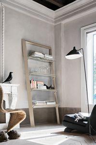 BOOK PP116 PP115, Libreria in metallo con ripiani in vetro