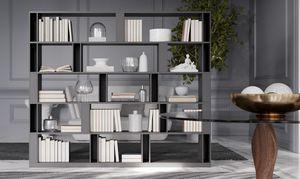 BRERA comp.02, Libreria bifacciale per zona giorno, alto design